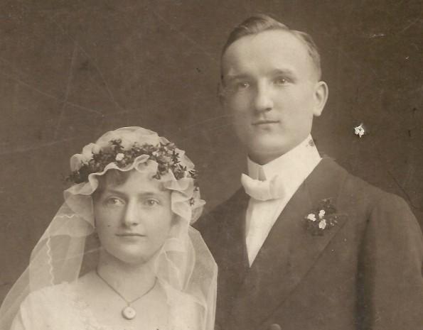Hochzeitsfoto von Otto Kuester und Frieda Becher 1919